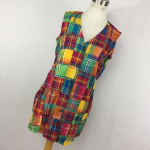 Betsey Johnson S Small Dress Patchwork Sleeveless
